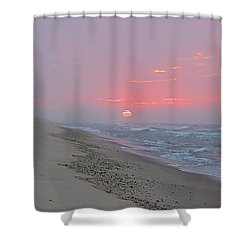 Shower Curtain featuring the photograph Hazy Sunrise by  Newwwman