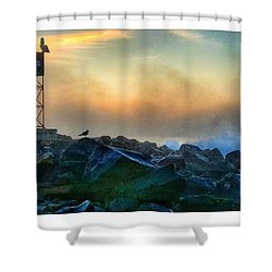 Hazy Sunrise Shower Curtain