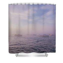 Hazy Sunset In Bar Harbor Maine Shower Curtain