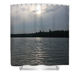 Hazy Sunset Shower Curtain by Kevin McCarthy