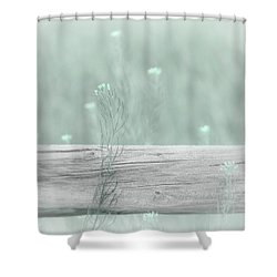 Shower Curtain featuring the photograph Hazy Teal Wildflowers by Jennie Marie Schell
