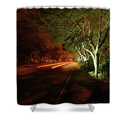 Hb Drive Time Lapse Shower Curtain