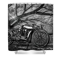 Shower Curtain featuring the photograph Hd Cafe Racer  by Louis Ferreira