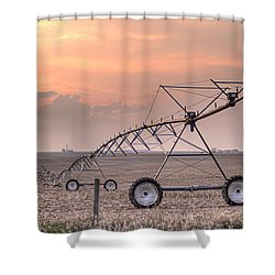 Hdr Sunset With Pivot Shower Curtain