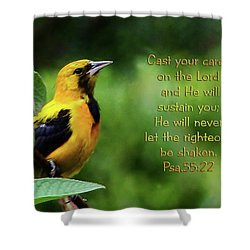 He Cares Shower Curtain