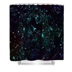 Shower Curtain featuring the digital art HE by Digital Feng Shui