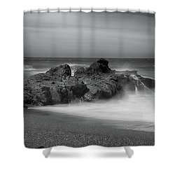 He Enters The Sea Shower Curtain by Laurie Search