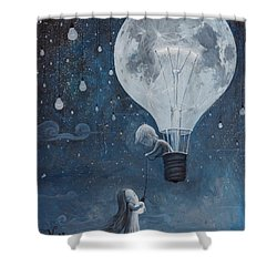 He Gave Me The Brightest Star Shower Curtain by Adrian Borda