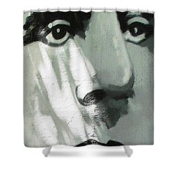 He Is Not Amused Shower Curtain by Ethna Gillespie