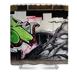 He Is Really Nice Mom Shower Curtain by Bob Christopher
