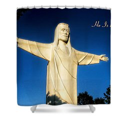 Shower Curtain featuring the photograph He Is Risen by Joan Bertucci