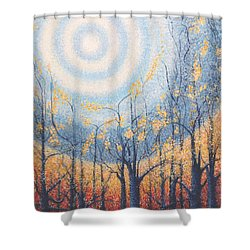 Shower Curtain featuring the painting He Lights The Way In The Darkness by Holly Carmichael