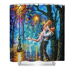 He Proposal  Shower Curtain by Leonid Afremov
