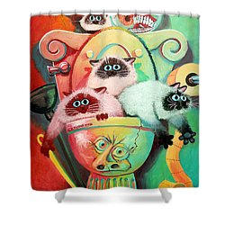 Head Cleaners Shower Curtain