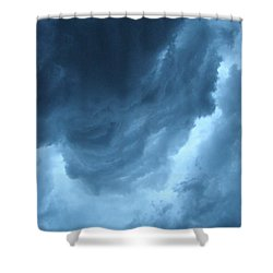 Head For Cover Shower Curtain by Angie Rea
