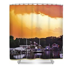 Shower Curtain featuring the photograph Head For Safety by Brian Wallace