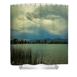 Shower Curtain featuring the photograph Head In The Clouds by James BO Insogna