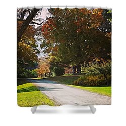The Hills Above Woodstock Vt Shower Curtain