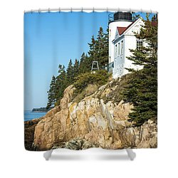 Head Lighthouse Shower Curtain
