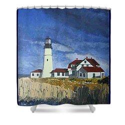 Head Lighthouse  Shower Curtain
