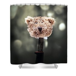 Head Of A Teddy Shower Curtain by Joana Kruse