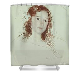 Head Of Adele Shower Curtain
