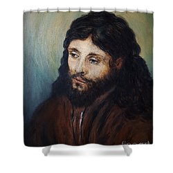 Head Of Christ After Rembrandt Shower Curtain