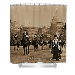 Head Of Washington D.c. Suffrage Parade Shower Curtain by Padre Art