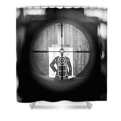 Head Shot Shower Curtain