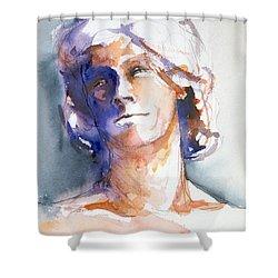 Head Study 1 Shower Curtain
