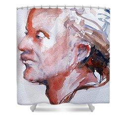 Head Study 5 Shower Curtain