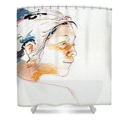 Head Study 9 Shower Curtain