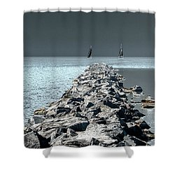 Headed For The Rocks Shower Curtain
