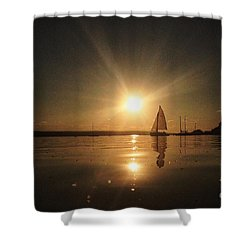 Heading Home Shower Curtain by Rod Jellison