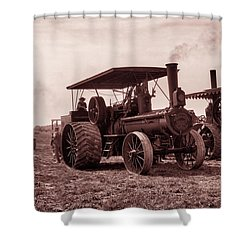 Heading Out Antiqued Shower Curtain