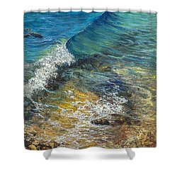 Shower Curtain featuring the painting Heading Out To Sea by Darice Machel McGuire