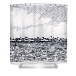 Heading Out To The West Bar Shower Curtain by Charles Harden