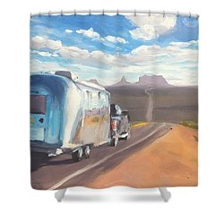 Heading South Towards Monument Valley Shower Curtain