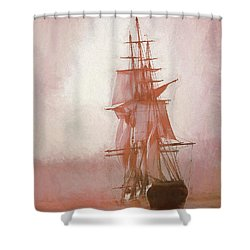 Shower Curtain featuring the photograph Heading To Salem From The Sea by Jeff Folger