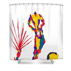 Headless Shower Curtain by Darrell Black