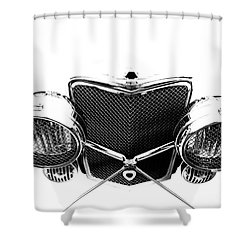 Shower Curtain featuring the photograph Headlights by Stephen Mitchell