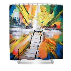 Healing Shower Curtain