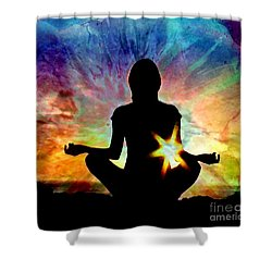 Healing Energy Shower Curtain