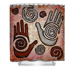 Healing Hands Fresco  Shower Curtain