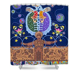 Shower Curtain featuring the painting Healing - Nanatawihowin by Chholing Taha