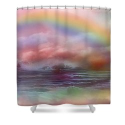 Healing Ocean Shower Curtain by Carol Cavalaris