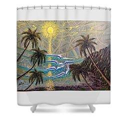 Healing Sunset Shower Curtain
