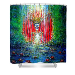 Shower Curtain featuring the painting Healing Waters by Heather Calderon