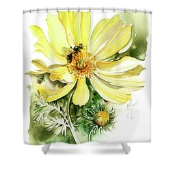 Shower Curtain featuring the painting Healing Your Heart by Anna Ewa Miarczynska