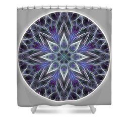 Health And Happiness Mandala Shower Curtain